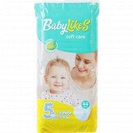 Подгузники «Baby Likes» размер 5, 12-25 кг, 44 шт.