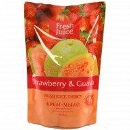 Крем - мыло «Fresh Juice» Serawberry & Guava, 460 мл.