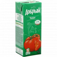Сок «Добрый» томатный с солью и мякотью 0.2 л.