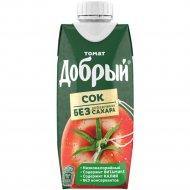 Сок «Добрый» томатный, с солью и мякотью, 0.33 л.