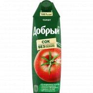 Сок «Добрый» томатный, с солью и мякотью, 1 л.