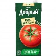 Сок «Добрый» томатный, с солью и мякотью, 2 л.