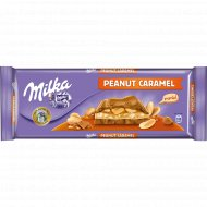 Шоколад молочный «Milka» с арахисом и карамелью, 276 г.