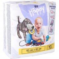 Пеленки детские «Bella Baby Happy» 60х60, 10 шт