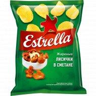Чипсы рифленые «Estrella» со вкусом лисичек в сметане, 125 г.