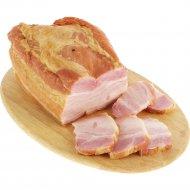 Грудинка свиная «Белорусская» копчено-вареная, 1 кг, фасовка 0.4-0.8 кг