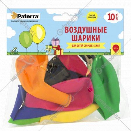 Воздушные шарики «Paterra» разноцветные, 30 см, 10 шт.