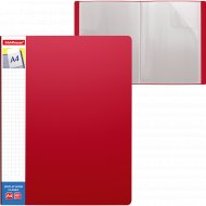 Папка А4 с 40 карманами с карманом на корешке, красная.