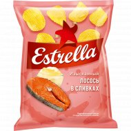 Чипсы рифленые «Estrella» лосось в сливочном соусе, 125 г.