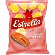 Чипсы «Estrella» рифленые, лосось в сливочном соусе, 125 г