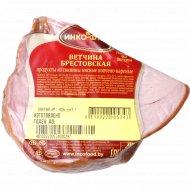 Продукт из свинины «Ветчина Брестовская» копчено-вареный, 1 кг., фасовка 1.1-1.9 кг