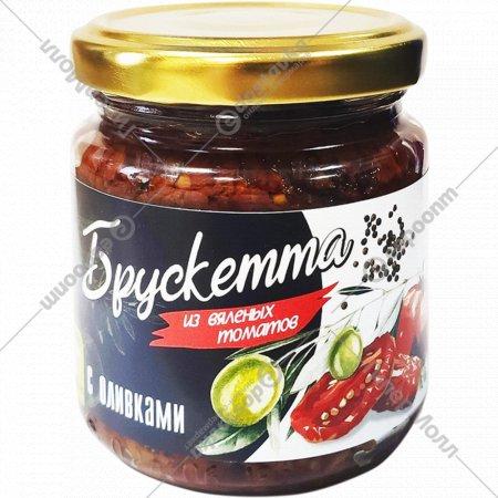 Брускетта «EcoFood» из вяленых томатов с оливками, 190 г.