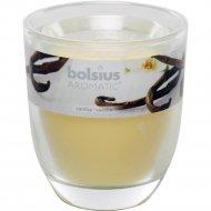 Свеча в стекле, 80х70 мм, с ароматом ванили.