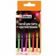 Свечи для торта «Цветное пламя» 6 шт.
