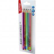 Набор карандашей чернографитных «Fuze» HB, с ластиком, 5 шт.