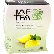 Чай зелёный «Jaf Tea» с ароматом лимона, 100 г.