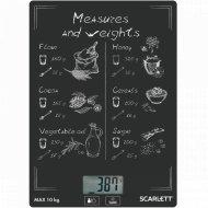 Весы «Scarlett» SC-KS57P64, меры и веса