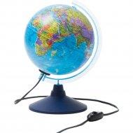 Глобус политический, с подсветкой, 21 см.