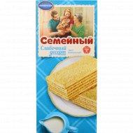Торт вафельный «Семейный» сливочный десерт, 230 г.