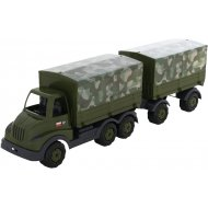 Автомобиль бортовой «Муромец» тентовый военный с прицепом.