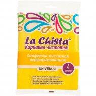 Салфетка вискозная перфорированная «La Chista» Universal, 4 шт.