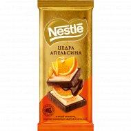 Шоколад тёмный и белый «Nestle» с цедрой апельсина, 85 г.