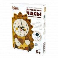 Набор деревянные часы своими руками «Ежик» с тонером.
