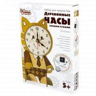 Набор деревянные часы своими руками «Котенок» с тонером.