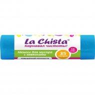 Мешки для мусора «La Chista» с завязками синие, 15 шт.