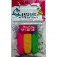 Набор ластиков «Pencil Holder», 3 шт.