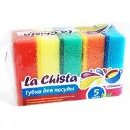 Губки для посуды «La Chista» премиум, 5 шт.