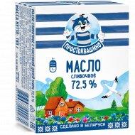 Масло сливочное «Простоквашино» несоленое, 72.5%, 180 г