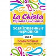 Перчатки особо прочные «La Chista» резиновые с напылением, L.