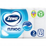Туалетная бумага «Zewa» без аромата, 12 рулонов.
