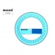 Транспортир пластиковый «Mazari» 360°.
