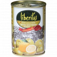 Оливки зеленые «Liberitas» c лимоном, 280 г.