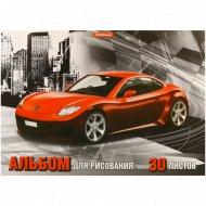 Альбом для рисования «Red car» 30 листов.