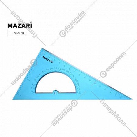 Треугольник с транспортиром «Mazari» полупрозрачный, 16 см.