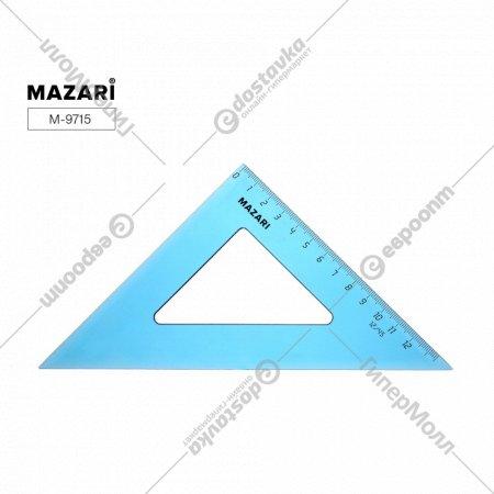 Треугольник пластиковый «Mazari» полупрозрачный, 13.5 см.