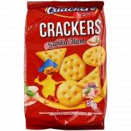 Крекер соленый «Delicious Quackers» c ветчиной, 80 г.