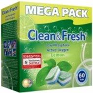 Таблетки для посудомоечных машин «Clean&Fresh» All in 1, 60 шт