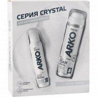 Подарочный набор «Arco» Crystal, пена, дезодорант, 200+150 мл