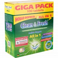 Таблетки для посудомоечных машин «Clean&Fresh» All in 1, 100 шт