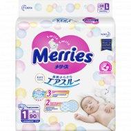 Подгузники «Merries» для новорожденных, 0-5 кг, 90 шт.