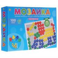 Мозаика пластиковая, 100 фишек, диаметр 20 мм.