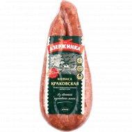 Колбаса «Краковская» из мяса птицы, высшего сорта, охлажденная, 1 кг., фасовка 0.4-0.6 кг