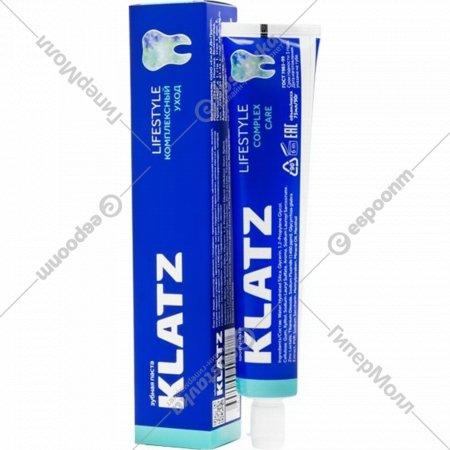 Зубная паста «Klatz lifestyle» комплексный уход, 75 мл.