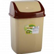 Ведро для мусора пластмассовое крышкой 5 л.
