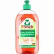 Гель концентрат «Frosch» для мытья посуды, красный апельсин, 500 мл.