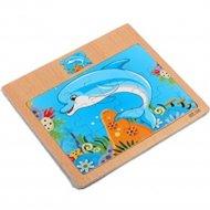 Пазл-рамка для малышей «Дельфин» 12 элементов.